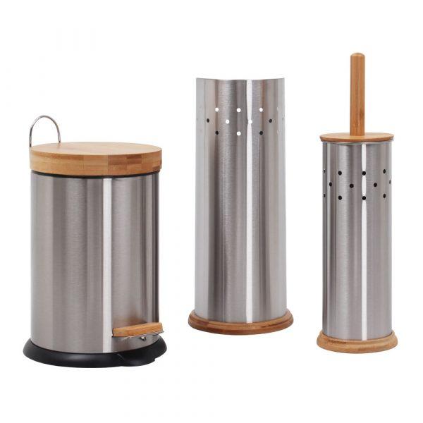 3 in 1 Bathroom Set Stainless Steel