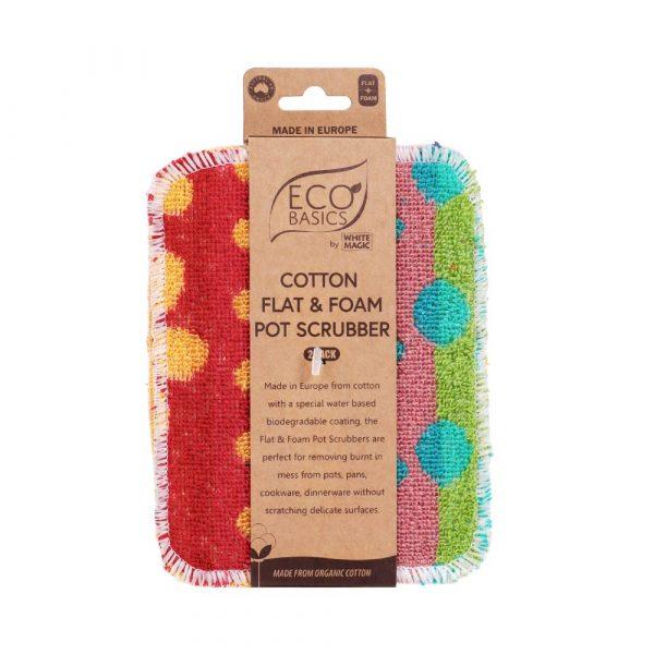 Eco Basics Cotton Flat & Foam Pot Scrubber