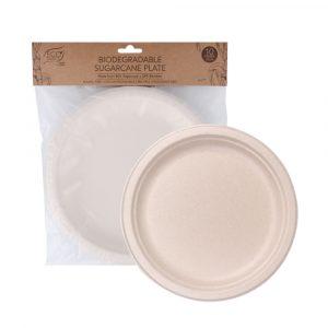 Eco Basics Sugarcane Plate 23cm